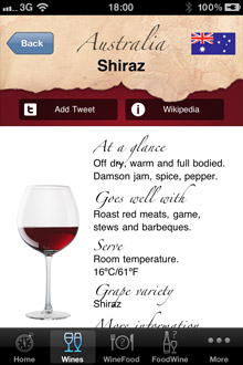 Wine Navigator® 'Wine Information'
